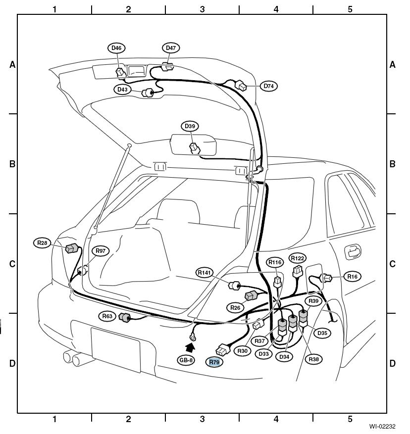 subaru wiring harness merge