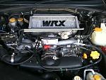 the engine with my intercooler spray job :P